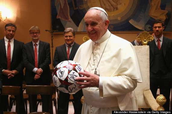 Pope Francis likes soccer