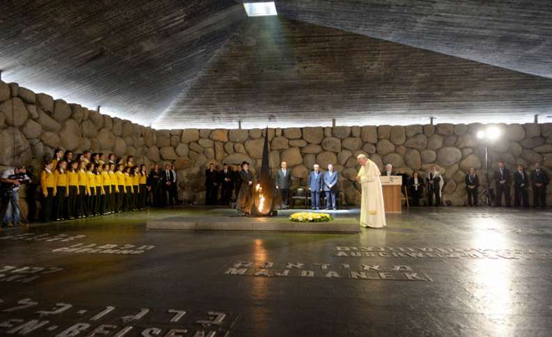 Pope Francis at the Memorial Tent of Yad Vashem, Israel's National Memorial and Museum of the Holocaust, Guideposts