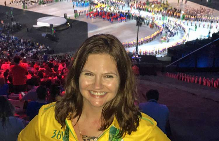 Guideposts staffer attends the Olympic Opening Ceremonies
