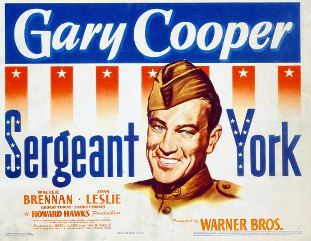 A 1941 movie poster for Gary Cooper in Sergeant York