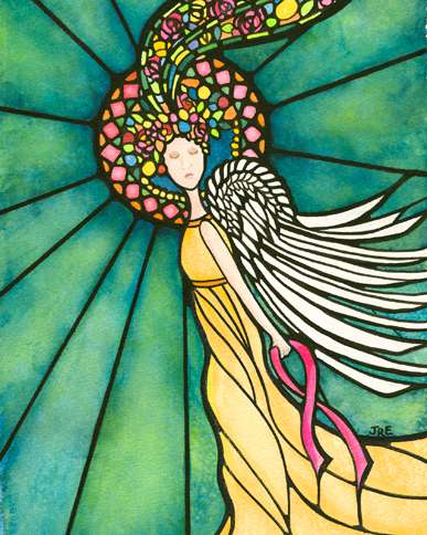 Guideposts: The angel painting that Renee gave her sister when she was diagnosed with cancer