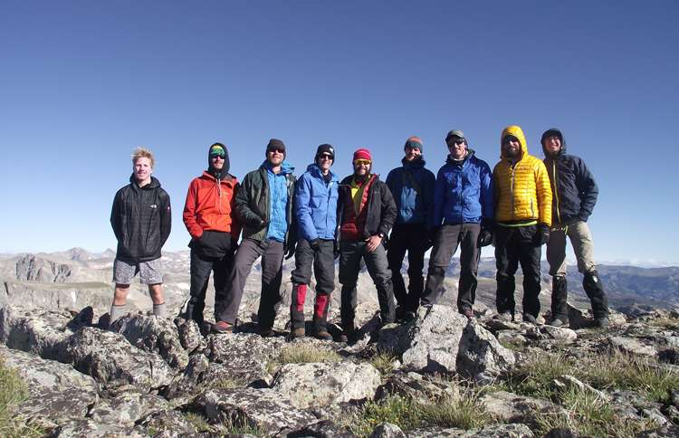 Guideposts: Nate and his group of climbers at 12,500 feet on Halls Mountain in the Wind River Range