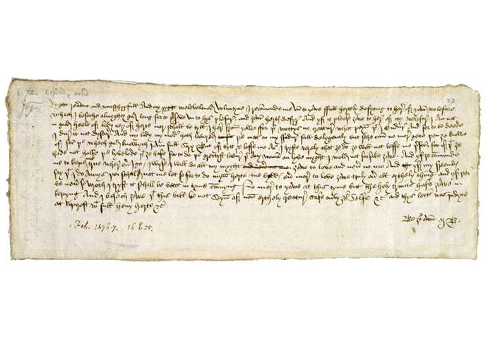 Guideposts: Margery Brews' Valentine's Day letter to John Paston.