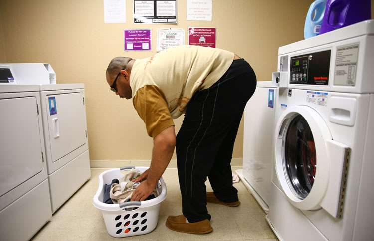 Guideposts: Willie cooks his meals and does his own laundry.