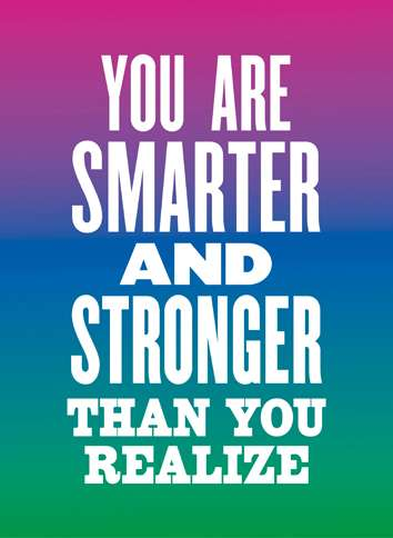 Guideposts: Image reading, You are smarter and stronger than you realize