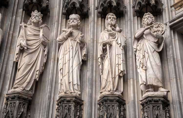 Guideposts: Statues of the saints found on the facade of the Cologne Cathedral