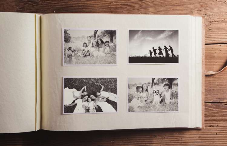 Guideposts: A photograph album featuring pictures of a happy family