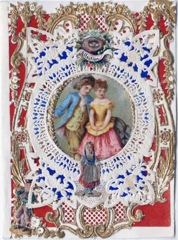 """Guidepsts: Esther Howland Valentine card, """"Affection"""" ca. 1870s"""
