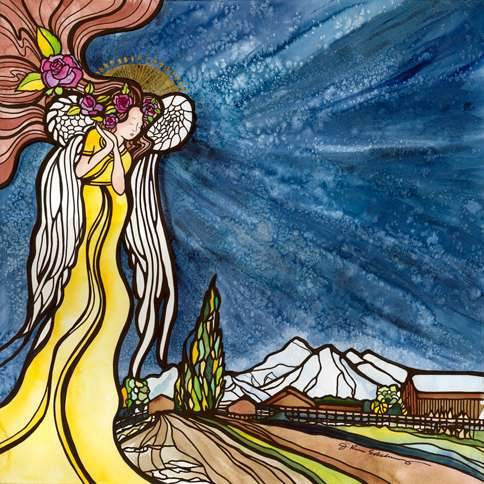 Guideposts: J. Renee Ekleberry's painting Blessed Be Settlement Ranch