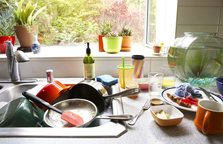 Guideposts: A sink full of dirty dishes, waiting for someone to wash them