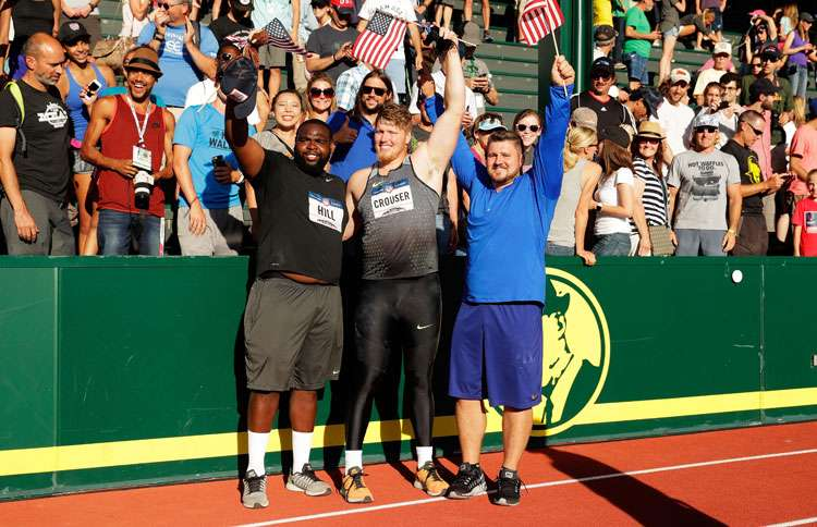 Joe (right) qualified for the 2016 Olympics, his first, by finishing second at the United States Olympic Trials in Eugene, Oregon.