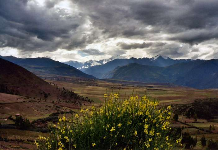 The Sacred Valley, an area in the Andean Highlands that was considered the heart of the Inca Empire