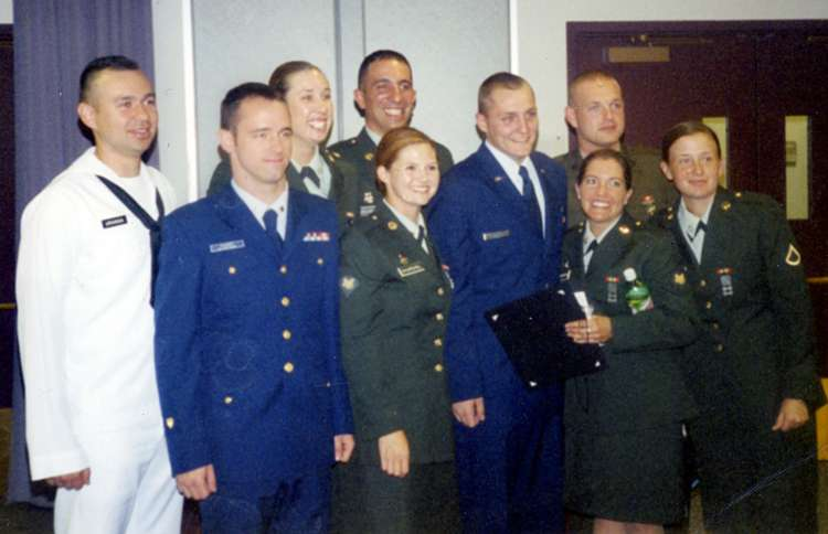 Guideposts: Allison (center, in green) with her fellow Basic Public Affairs Specialist—Writers graduates