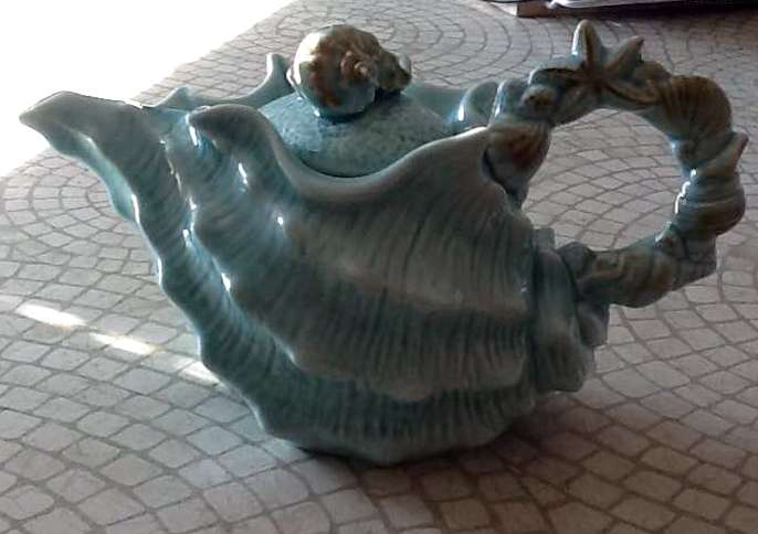 J. P. found this teapot in an antique store on the New Jersey shore.
