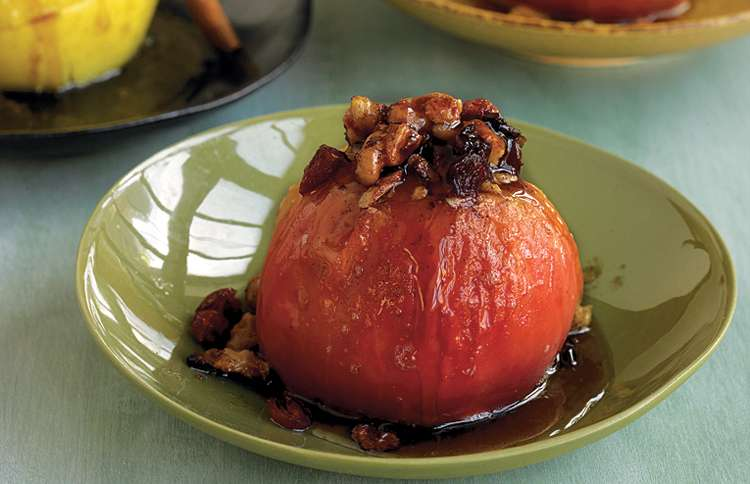 Guideposts: Cranberry-Walnut Baked Apples