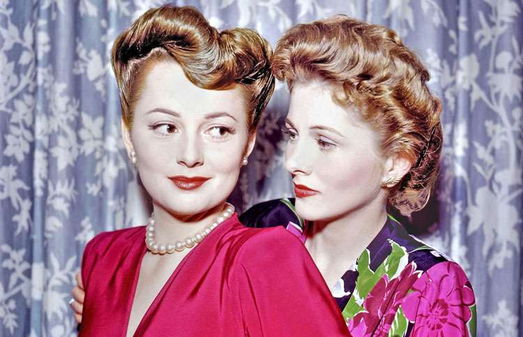 Guideposts: Sisters Olivia de Havilland (left) and Joan Fontaine