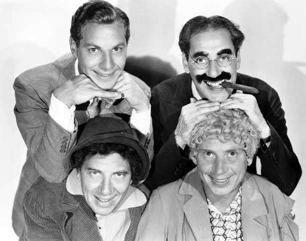 Guideposts: (clockwise from lower left) Chico, Zeppo, Groucho and Harpo