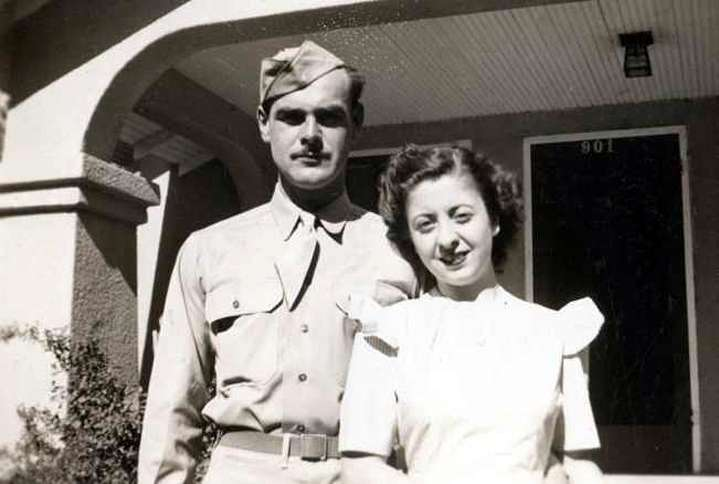 Guideposts: Sabra's great-uncle Phil Comeau, with his wife, Lillian, in 1942