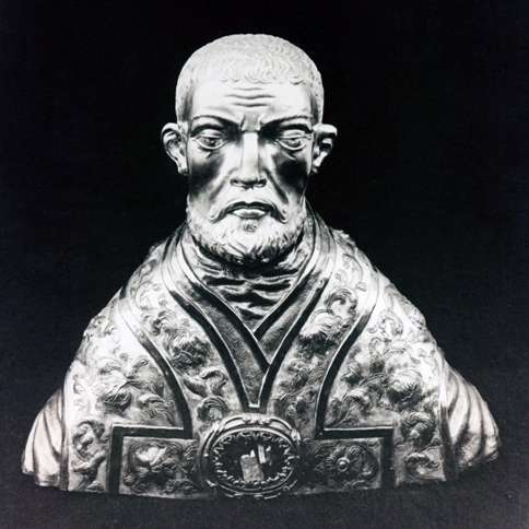 Guideposts: A reliquary of Saint Valentine in the form of a bust.