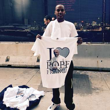 Guideposts: I love Pope Francis t-shirts, New York City