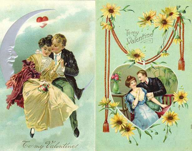Guideposts: A pair of Valentine's Day cards from the Victorian era