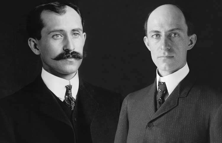 Guideposts: Orville (left) and Wilbur Wright