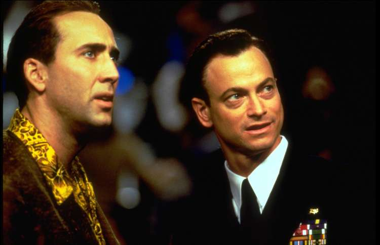 Guideposts: Gary Sinise and Nicholas Cage in Snake Eyes.
