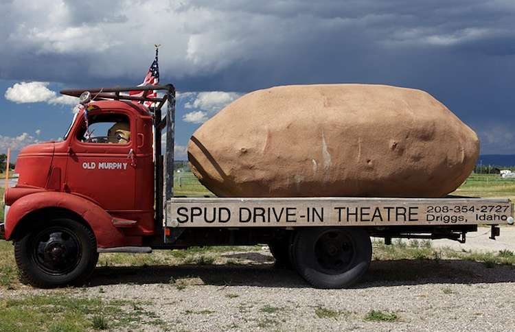 The giant potato outside the Spud Drive-in