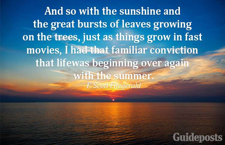 A summer quote from F. Scott Fitzgerald