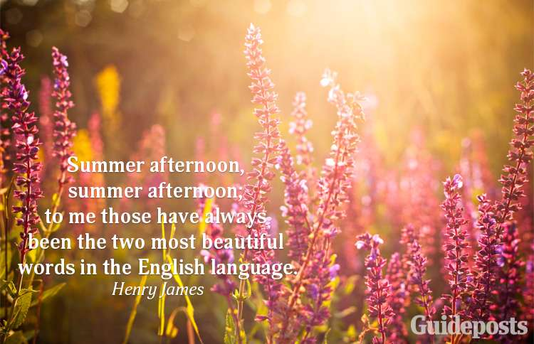 A summer quote from Henry James