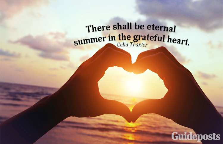 A summer quote from Celia Thaxter