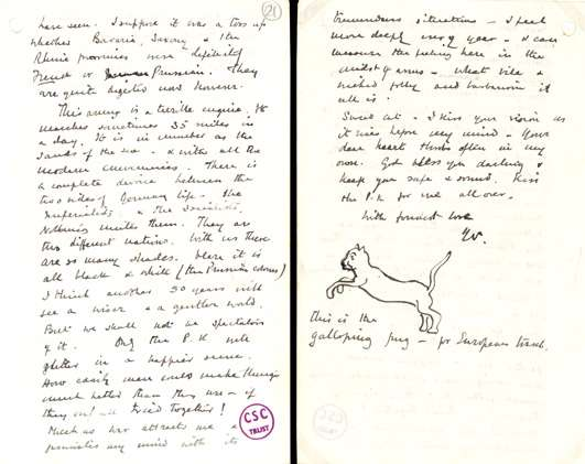 Winston Churchill's letter to wife Clementine