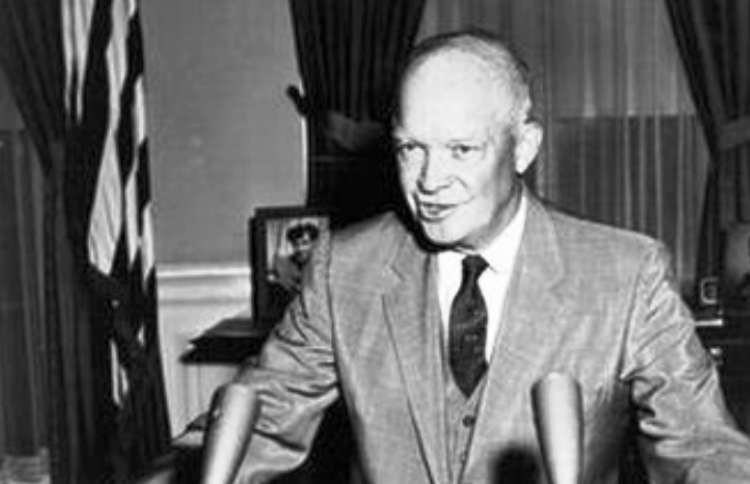 an analysis of dwight eisenhowers time as the president of the united states President eisenhower utilised these words in his last speech as president in 1961 this speech warned a nation of the growing phenomena known as the 'military-industrial complex' essentially stating that war was becoming a business, a market, and a commodity.