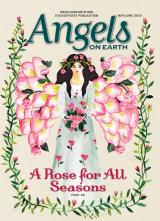 An angel illustration on the cover of the May-June 2015 edition of AOE