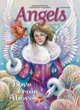 An artist's rendering of a Valentine angel on the cover of the Jan-Feb 2016 issue of Angels on Earth magazine