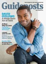Award-winning actor David Oyelowo on the cover of the September 2015 Guideposts