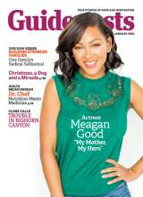 Actress Meagan Good on the cover of January 2016 of Guideposts magazine