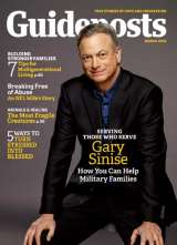 Actor Gary Sinese on the cover of March 2016 of Guideposts magazine