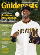 All-Star center-fielder Andrew McCutchen of the Pittsburgh Pirates on the cover of the June 2016 edition of Guideposts magazine