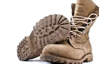 How combat boots connect to faith.