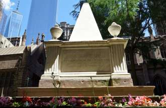 Alexander Hamilton's grave at Trinity Church in New York City.