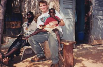 Jesse Thyne as a Peace Corps Volunteer in Guinea, West Africa, 1998. Photo courtesy Patrick Thyne.