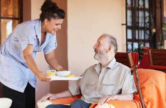 Meals on wheels for senior citizens.
