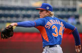 Noah Sydergaard Mets Pitcher's Two Homeruns
