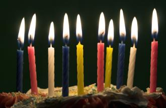 Birthday candles. Photo by Aleksandar Kosev, Thinkstock.