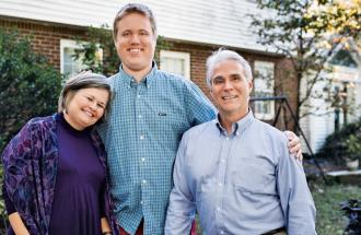 Robbie and her husband, Mike, with Nicholas