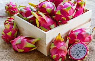 Dragon fruit, one of the traditional Shehecheyanu Fruit of Rosh Hashanah, the Jewish New Year.