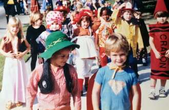 Guideposts: Can you spot Jason and Jessica in this photo of a preschool Halloween parade?
