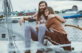 Benjamin Peck and Chelsea Peck of the Christian Folk Duo Mr. & Mrs. Something