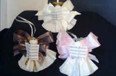 Adorable and easy-to-make coffee filter angels.